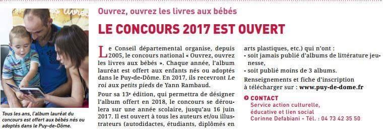 """""""Ouvrez, ouvrez les livres aux bébés"""": le concours 2017 est ouvert !"""