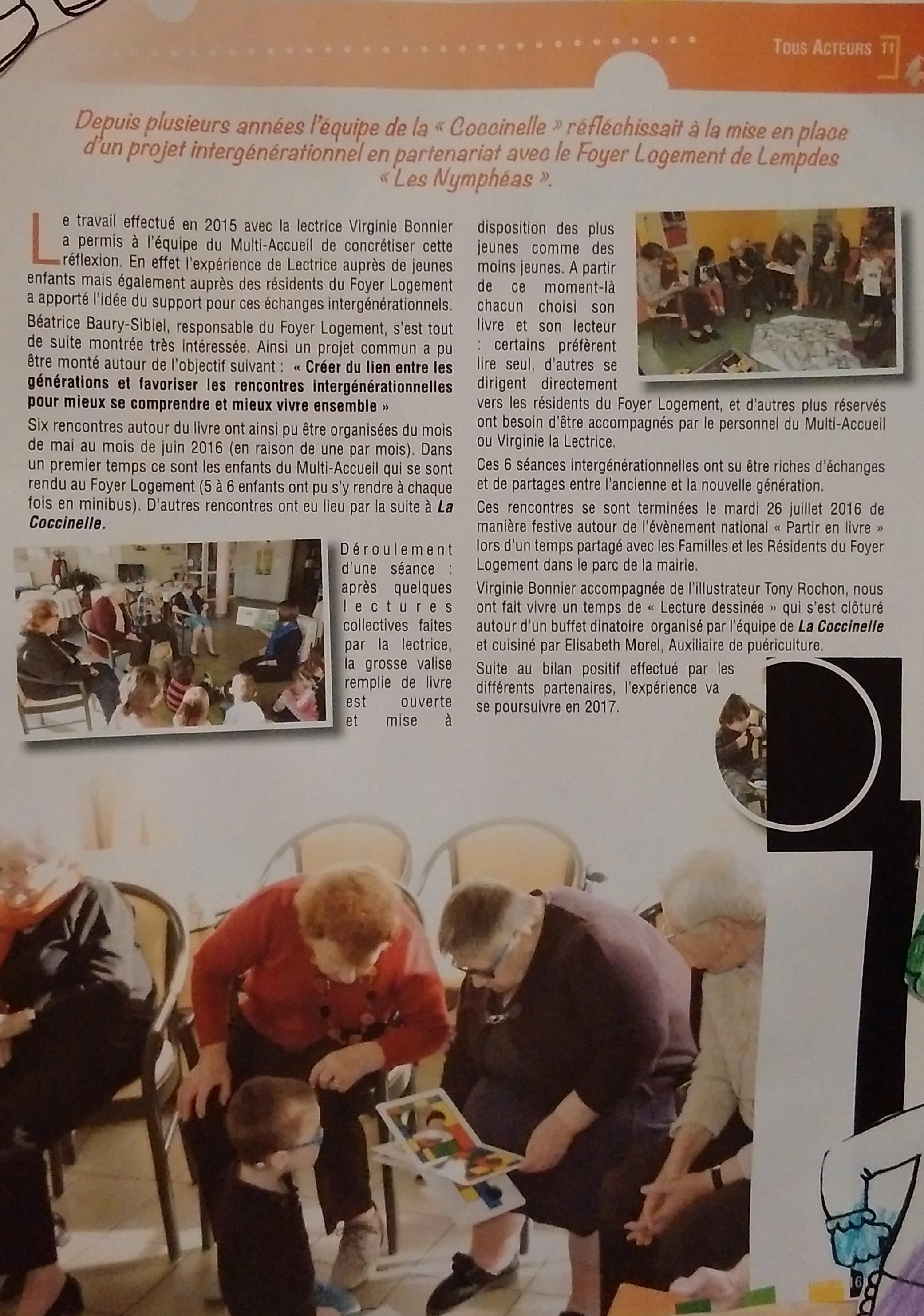 """L'équipe de la """"Coccinelle"""" veut créer du lien entre les générations"""