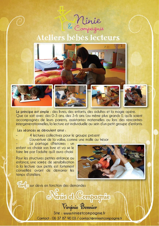 Ninie et compagnie Ateliers bébés lecteurs