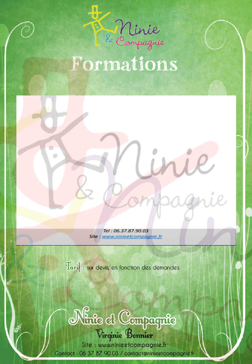 Ninie et Compagnie - Formations