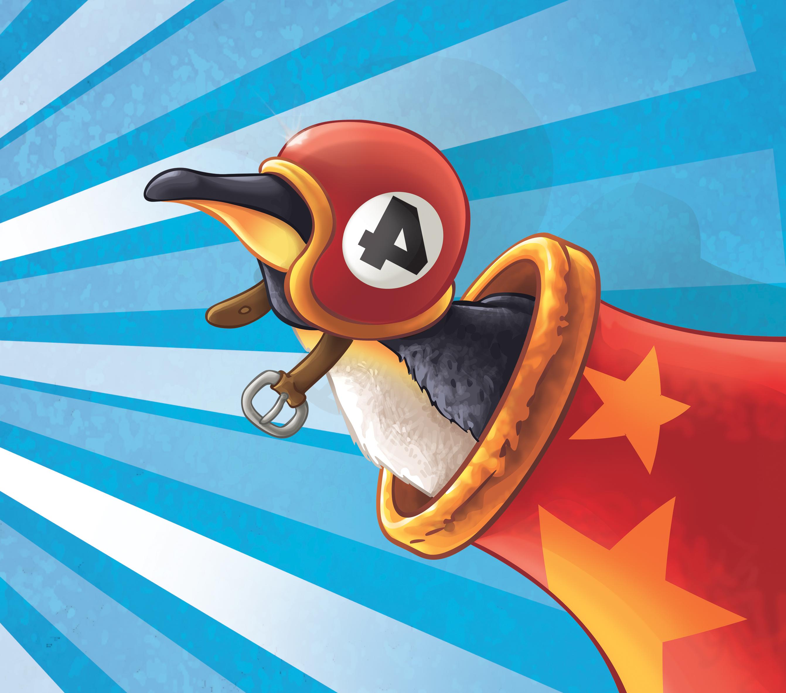 """Ninie et compagnie Lectures dessinées - illustration """"pingouin"""""""